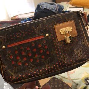 Limited Edition LV Perforated Pochette Shoulder Bag/Clutch